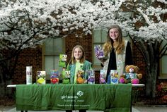 #GirlScouts Rachel Judd & Bailey Walker have each sold 3,500 boxes of cookies for their   Rockwell troop.