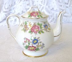 Vintage Royal Stafford China One Cup Teapot, Rochester Pattern by TheWhistlingMan on Etsy