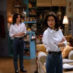 Rachel Green might have been more beloved, but we firmly believe that Monica Geller (Courteney Cox) was the best dressed character on 'Friends. Rachel Green Outfits, Style Rachel Green, Look 80s, Look Retro, Fashion Tv, Fashion Outfits, Fashion Advice, High Fashion, Friends Mode