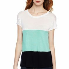 jcp™ Drop-Sleeve Tee - Petite - jcpenney $16
