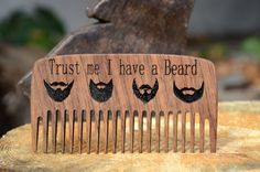 Combs – Beard comb Personalized engraved wooden comb gift – a unique product by Enjoythewood on DaWanda