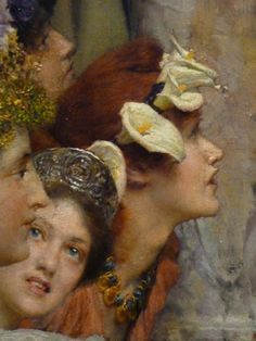 Spring, detail, Sir Lawrence Alma-Tadema.