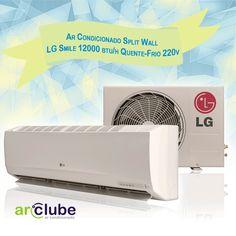 Esse aparelho aqui tem a qualidade LG! - Ar Condicionado Split Wall LG Smile 12000 btu/h Quente-Frio 220v  >> www.arclube.com.br