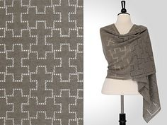"""""""Breno Rectangular Shawl,"""" by Steve Rousseau, crocheted in Isager Alpaca 1."""