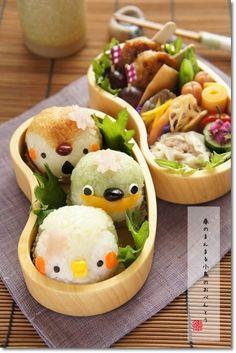 【コレクル*アイディアお弁当コンテスト】春のまんまる小鳥チャンのお弁当* bento box