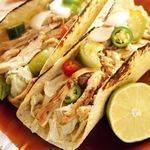 Crockpot Chicken Tacos This family-friendly meal is so easy. Slow cooking the chicken infuses so much flavor. Use this recipe for tacos or for ultra-low-carb taco salad. Calories - 210 Carbohydrates - 14g Saturated Fat - 2g Protein - 19g Sodium - 444mg