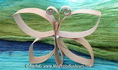 Fantàstica papallona feta dels cartrons del paper higiènic. Es pot pintar o decorar.
