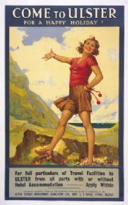 Irish Travel Poster, Come to Ulster, Northern Ireland
