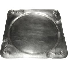 Carl Poul Petersen Sterling Silver Hand Hammered Serving Tray Platter