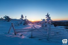 Sun is shining, the weather is sweet in Levi ski resort, Lapland, Finland. 7th of December 2013.