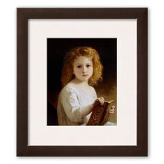 Art.com The Story Book Framed Art Print by William Adolphe Bouguereau, Multicolor