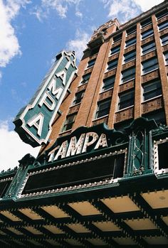 This is a film photo that was taken on a 35mm Minolta X-570 of the historic Tampa Theatre in Downtown Tampa.
