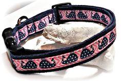 Pink and Blue Whale Dog Collar / Adjustable Dog Collar / Preppy / Grosgrain Ribbon / Small, Medium or Large Dog / Female Dog / Hipster Dog by SparklePupBoutique on Etsy