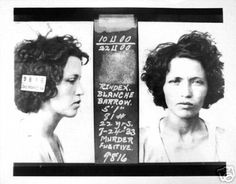 Blanche's Mugshot Projection- note the eye injury.