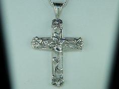 art nouveau cross necklace