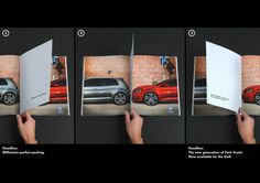 """Volkswagen i nowa generacja asystenta parkowania kreatywnie promują się w druku - """"Milimetre-perfect parking"""""""