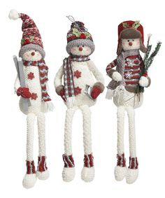 Love this Nordic Snowman Shelf Sitter - Set of Three by Transpac Imports on #zulily! #zulilyfinds