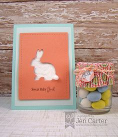 Monday, March 24, 2014 Jen Carter Bunny & Bows dies, Stitched Rectangles dies (both Lil' Inker Designs)