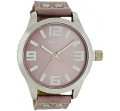 OOZOO Timepieces C6017 Pink/Grey (45MM) horloge
