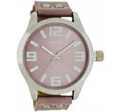OOZOO Timepieces C6017 Pink/Grey (45MM) horloge