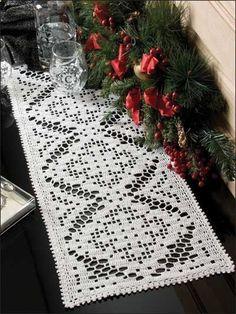 Crochet for the Home - Crochet Tablecloth Table Runner Patterns - Dreamweaver