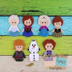 Gracefully Geeky Frozen Finger puppets