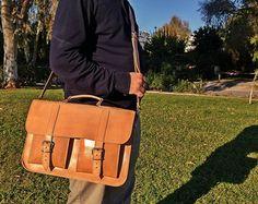 Leather Messenger Bag Women. Full Grain Leather от LeatherStrata