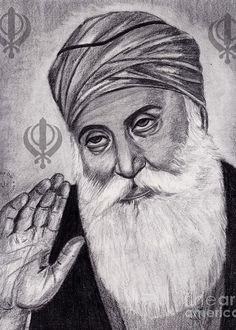 Drawing Pictures Of Guru Nanak Dev Ji Guru Nanak Jayanti Drawing Images Guru Nanak Photo, Guru Nanak Ji, Nanak Dev Ji, Girl Drawing Sketches, Portrait Sketches, Drawing Ideas, Guru Nanak Wallpaper, Guru Nanak Jayanti, Canvas Art Projects