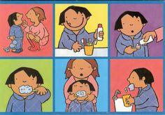 Stappenplan 'tanden poetsen' Kan ook als Memorie gebruikt worden.