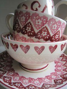 Emma Bridgewater Doily Hearts Cup & Saucer