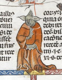 yoda lookalike found on Medieval manuscripts. A long time ago, in a manuscript far, far away … A curator at the British Library has found a Yoda lookalike in a medieval manuscript and now shares his previously solitary job with the world