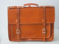 Leather laptop satchel