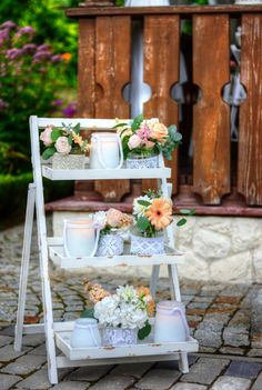 wedding rustic chic, wedding decoration and flowers Wedding Gold, Wedding Rustic, Chic Wedding, Wedding Decorations, Table Decorations, Rustic Chic, Castle, Green, Nature