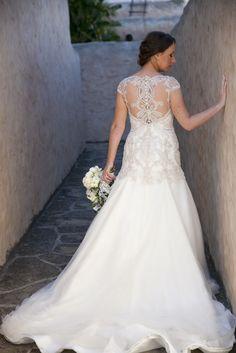 "Beaded illusion back dress by Veluz Reyes - ""Katy"""