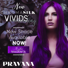 PRAVANA VIVIDS Everlasting shades, designed to act like a traditional VIVIDS shade but with the ability to be mixed with ChromaSilk permanent colors for long-lasting results. Mystic Magenta NOW available! Magenta Hair, Neon Hair, Violet Hair, Bright Hair Colors, Colourful Hair, Chromasilk Vivids, Pravana Hair Color, Dipped Hair, Dip Dye Hair