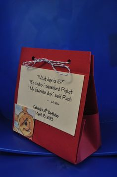 WINNIE THE POOH party favor bag by VICSMOMCREATIONS on Etsy, $15.00