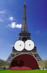 Patrick from Spongebob Visits the Eiffel Tower: Patrick is looking great in France! Spongebob Patrick, Spongebob Memes, Spongebob Squarepants, Funny Patrick, Cartoon Memes, Patrick Star, Geeks, Funny Images, Best Funny Pictures