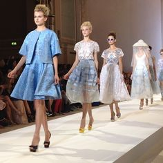 Models at the finale of the #Temperley show at #lfw. Photo by the WSJ's Mary Lane.