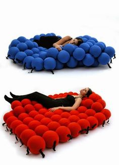 Innovative molecular bed cum sofa design is part of Modern bed furniture - Weird Furniture, Unique Furniture, Cheap Furniture, Furniture Design, Unique Sofas, Furniture Websites, Discount Furniture, Office Furniture, Furniture Decor