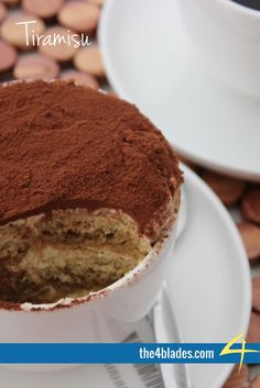 Thermomix Tiramisu Ingredients: Coffee, eggs, cream, mascarpone, icing sugar, sponge finger biscuits, cocoa powder.