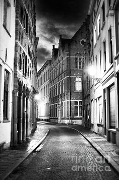 Night Walk in Bruges Photograph by John Rizzuto