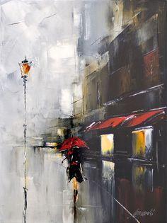red umbrella by Hercio Dias