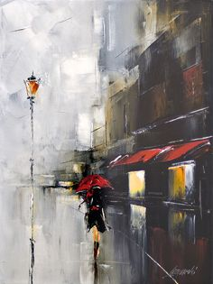 red umbrella by Hercio Dias