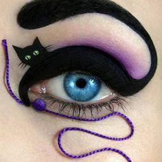 Aunque para este maquillaje debes tener paciencia para hacerlo, el resultado te encantará. ¡Es muy original! (Foto: Weheartit)