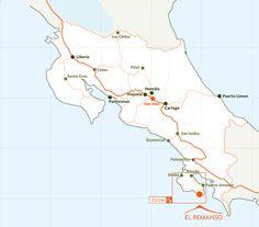 Costa Rica Map ...we are at the coast from Santa Cruz.