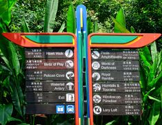 Directions so that you're not lost in the bird park ..