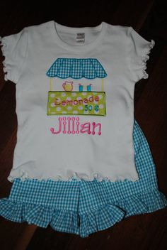 Jillian's Lemonade Stand Birthday Party Outfit (from Polka Dots & Stripes)