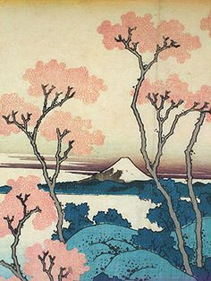 Katsushika Hokusai - Japanese Woodblock Prints - Thirty-Six Views of Mt. Japanese Art Prints, Japanese Drawings, Japanese Artwork, Japanese Painting, Japanese Colors, Girl Illustration Art, Japon Illustration, Japanese Illustration, Art Occidental