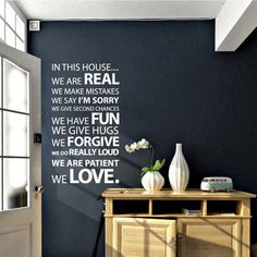 In this House. Vinilo decorativo