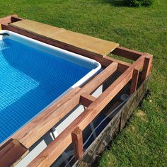 Hot Tub Backyard, Small Backyard Pools, Pool Decks, Backyard Patio, Outdoor Pool, Outdoor Decor, Piscina Pallet, Diy Swimming Pool, Home Design Plans
